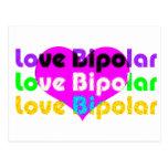 love bipolar Halftone Postcards