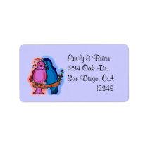 Love Bird address labels
