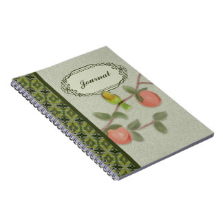 Love Bird and Peaches Notebook Journal