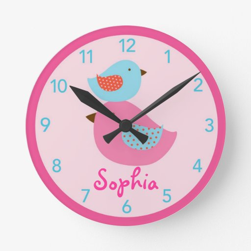 Love Bird Baby Bird Nursery Wall Clock