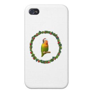 Love Bird Christmas Wreath iPhone 4/4S Covers
