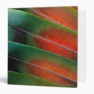 Love bird feather close-up binder