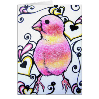 Love Bird III Blank Note Card