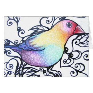 Love Bird IV Blank Note Card