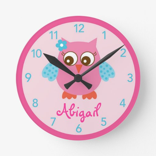 Love Bird Owl Nursery Wall Clock