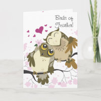 Love Bird Owls Greeting Card