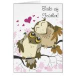 Love Bird Owls Greeting Card