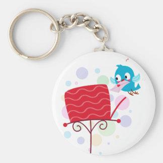 Love Bird Sending Letter Keychain