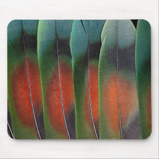 Love Bird Tail Feather Design Mouse Pad
