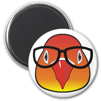 Love bird with glasses 2 inch round magnet