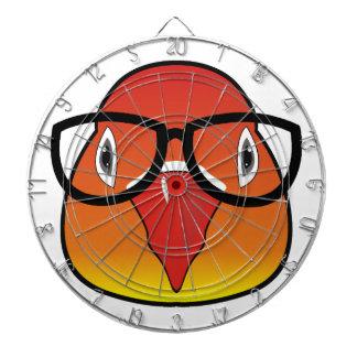 Love bird with glasses dartboards
