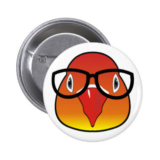 Love bird with glasses pinback button