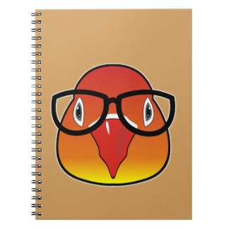 Love bird with glasses spiral notebook