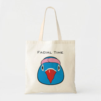Love bird with headband tote bag