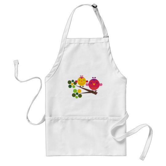 love birdies adult apron