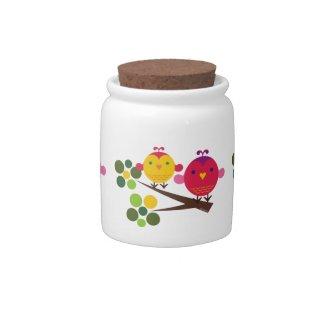Love Birdies Candy Jar Cotton Jar