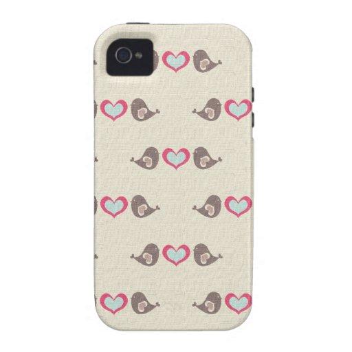 Love Birdies Vibe iPhone 4 Cases