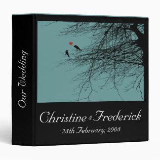 "Love Birds, 1.5"" wedding binder"