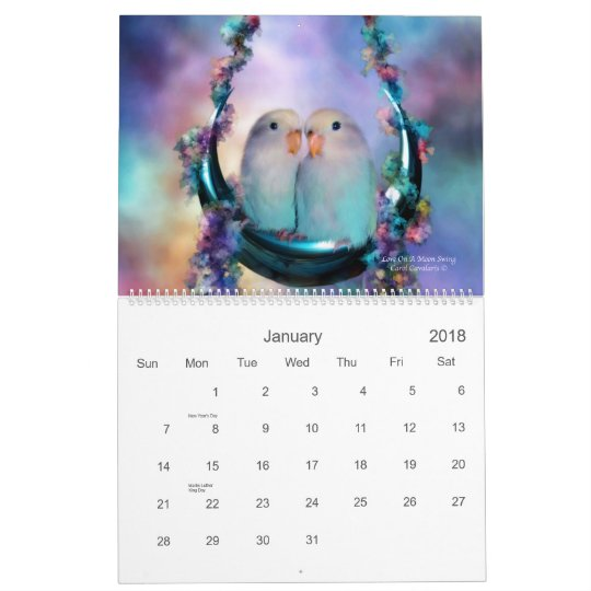 Love Birds 2011 Art Calendar