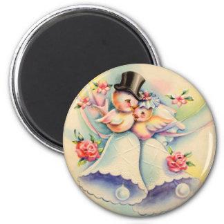 Love Birds 2 Inch Round Magnet