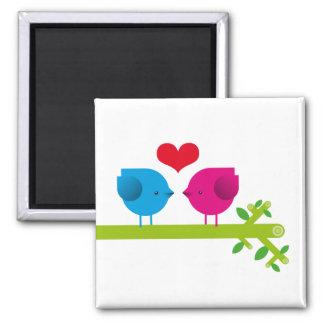 Love birds 2 inch square magnet