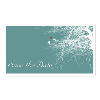 Love Birds 2, save the date mini cards Business Card Templates