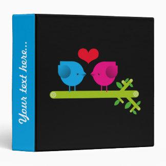 Love birds 3 ring binder