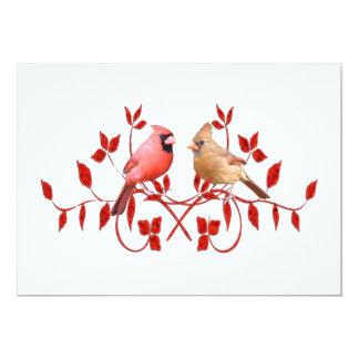 Love Birds 5x7 Paper Invitation Card