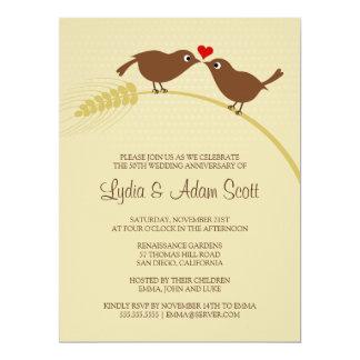 "Love Birds 6.5"" x 8.75"" Wedding Anniversary Card"