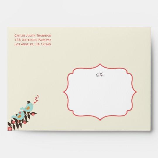 Love Birds - A7 Envelope