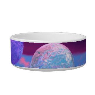 Love Birds - Abstract Pink and Purple Passion Bowl