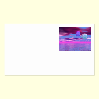 Love Birds - Abstract Pink and Purple Passion Double-Sided Standard Business Cards (Pack Of 100)