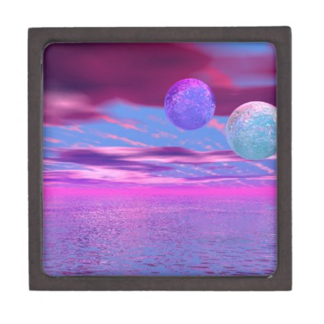 Love Birds - Abstract Pink and Purple Passion Jewelry Box