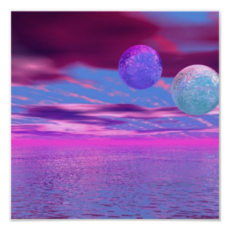 Love Birds - Abstract Pink and Purple Passion Poster