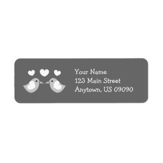 Love Birds Address Labels (Gray)
