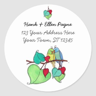 Love Birds Address Labels sticker
