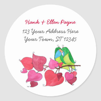 Love Birds Address Labels Stickers