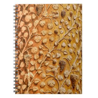 Love Birds and Grape Vines Vintage Decorative Art Spiral Notebooks