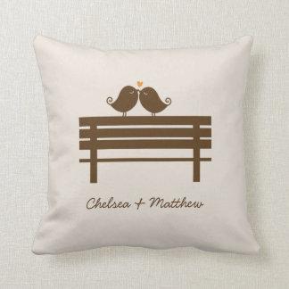 Love Birds Bench Throw Pillow