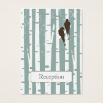 Love Birds Birch Tree Winter Wedding Business Card