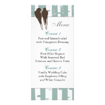 Love Birds Birch Tree Winter Wedding Rack Card