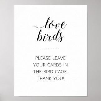 Love Birds Bird Cage Wedding Sign - Alejandra