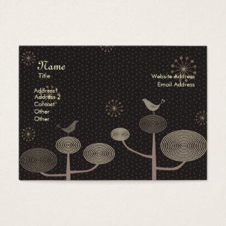 Love Birds Black Chubby Business Card