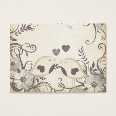 Love Birds (blank) Business Card at Zazzle