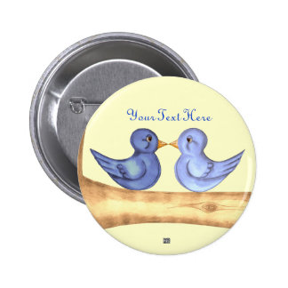 Love Birds (Blue) Button
