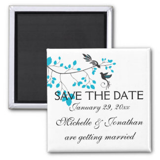 Love Birds Blue Magnet