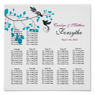 Love Birds Blue Posters