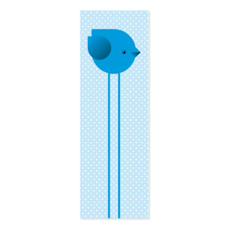 Love birds bookmark mini business card