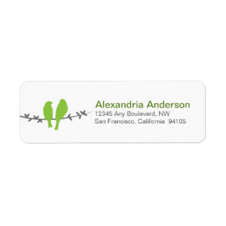 Love Birds Branch Return Address Labels (apple)