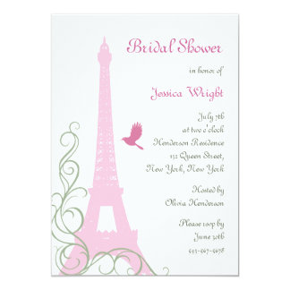 Love Birds Bridal Shower 5x7 Paper Invitation Card